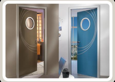 Porte d 39 int rieur gamme baie sp cialiste for Deco sur porte interieur